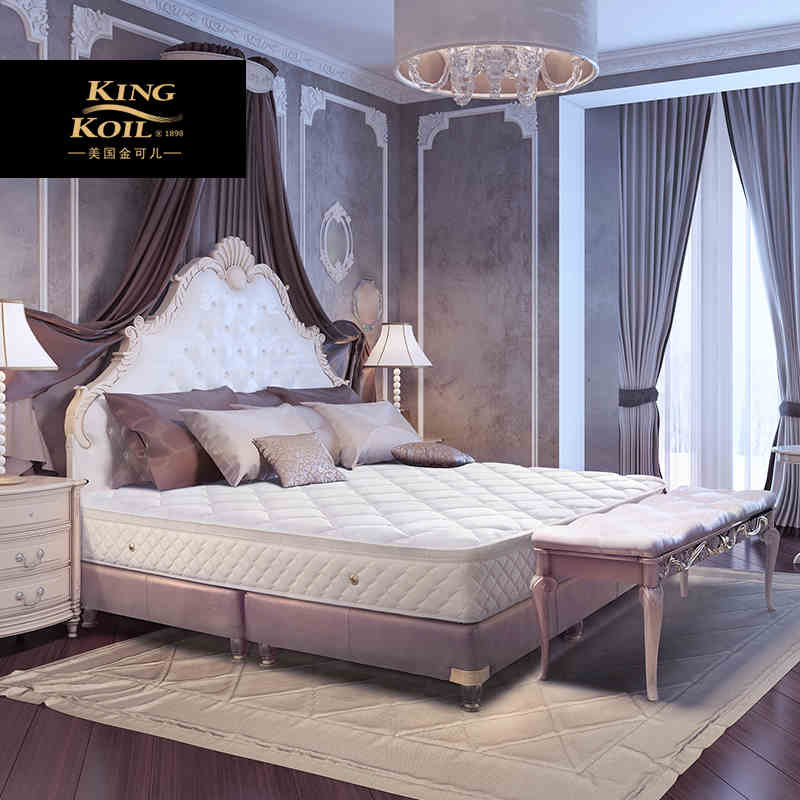 金可儿乳胶床垫1.8m席梦思1.5m护脊弹簧五星酒店布拉格